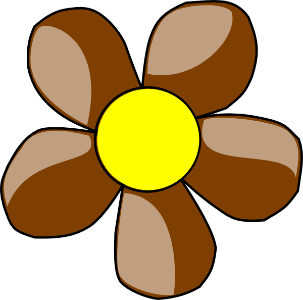 Daisies clipart orange. Brown daisy clip art