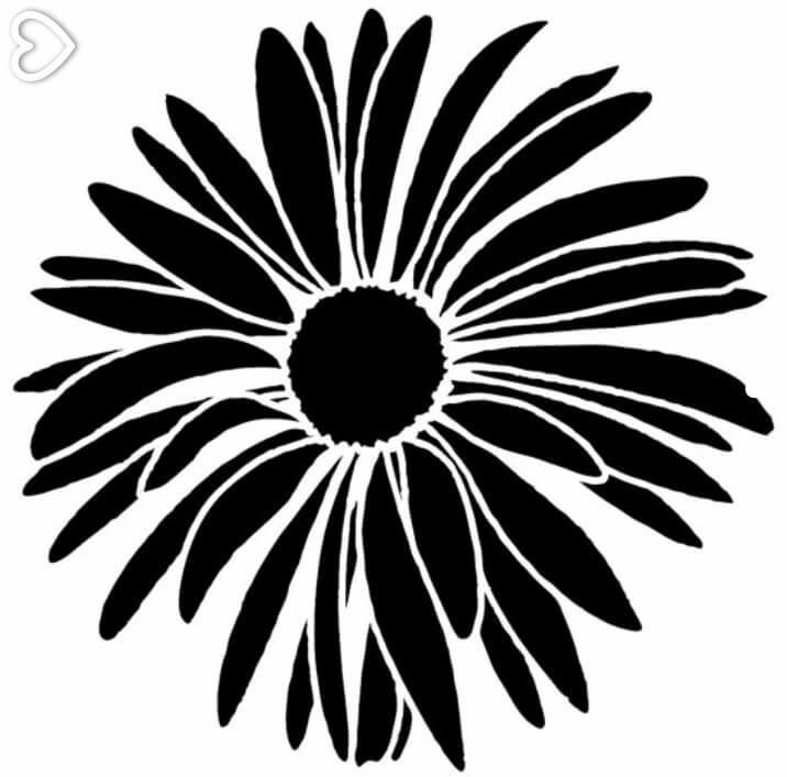 Flower . Daisy clipart silhouette