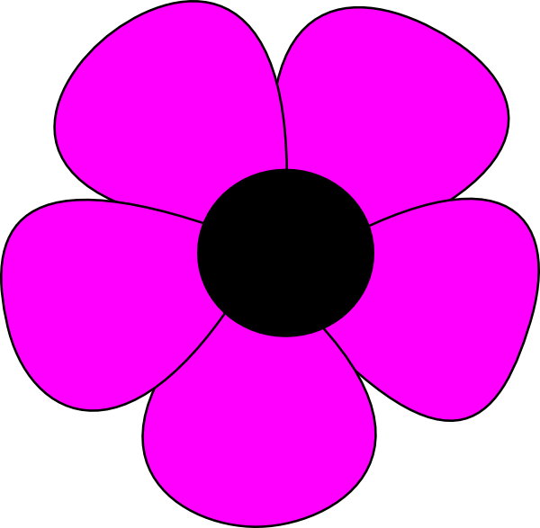 R clipart flower. Free simple drawing download