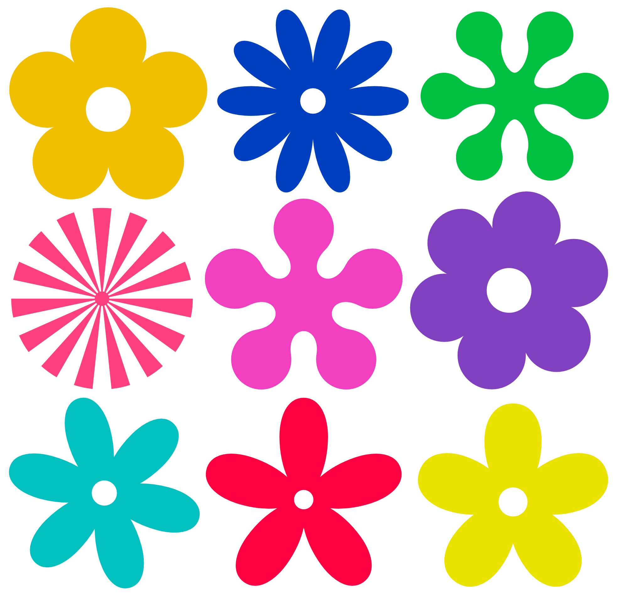 Daisies clipart smiley. Hippie and flowers clip