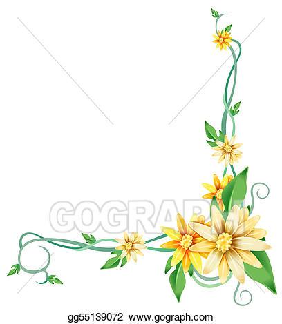 Stock illustrations yellow daisy. Daisies clipart vine