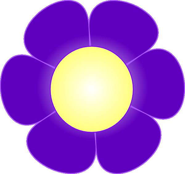 Daisy clipart purple. Flower clip art at