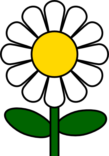 Daisy clipart. And vector illustrations