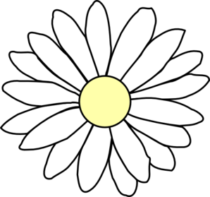 Black and white . Daisy clipart