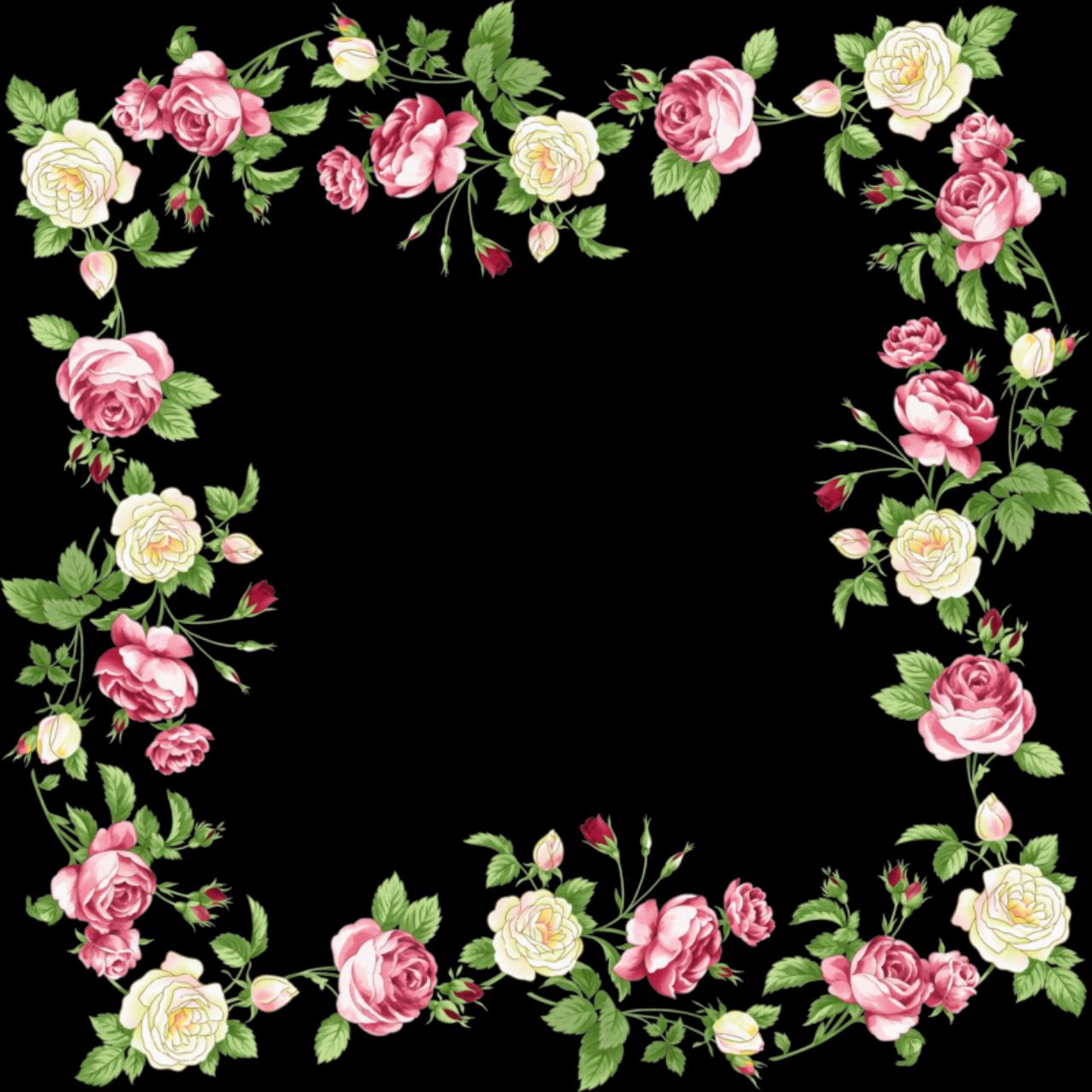 Floral border png. Flowers borders transparent images