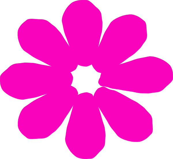 Pink clip art at. Daisy clipart bright flower