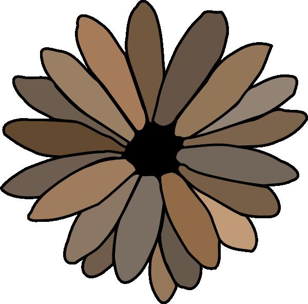 Gray brown clip art. Daisy clipart daisy leaves