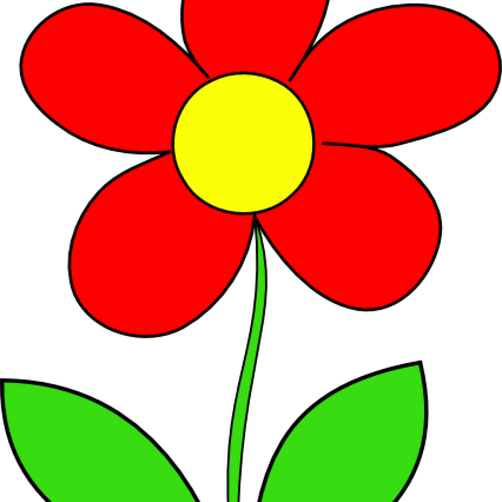 Free fun daisy cliparts. Clipart flower red