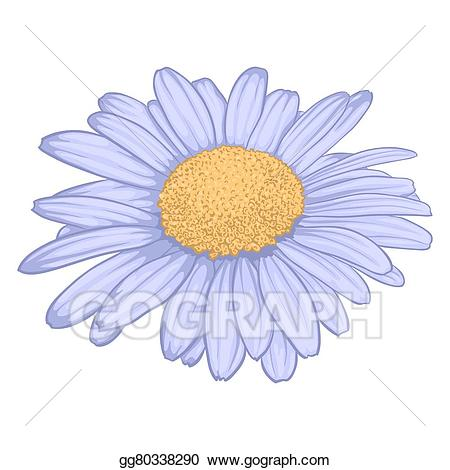 Daisy clipart flower day. Vector beautiful isolated on