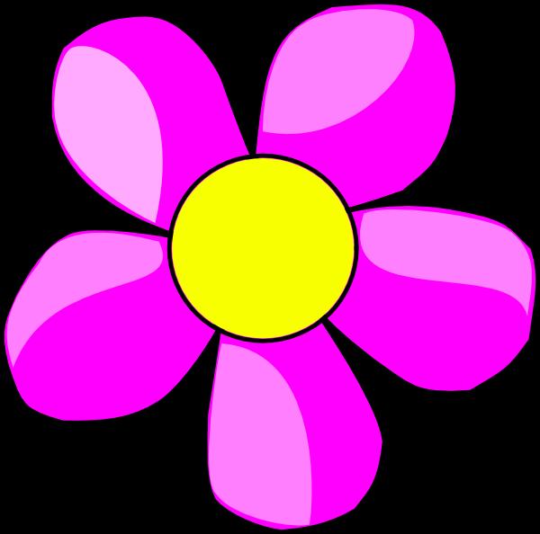 Flower clip art structure. Florida clipart pink