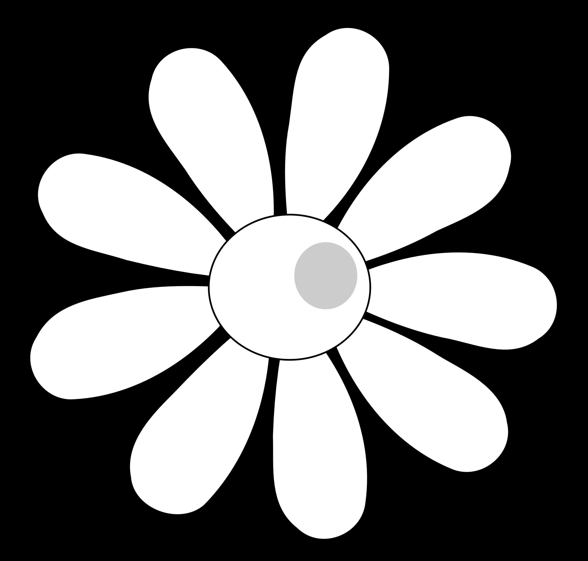 Simple cliparts zone outline. Daisy clipart landscape