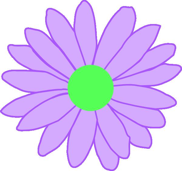 Outline clip art at. Daisy clipart purple