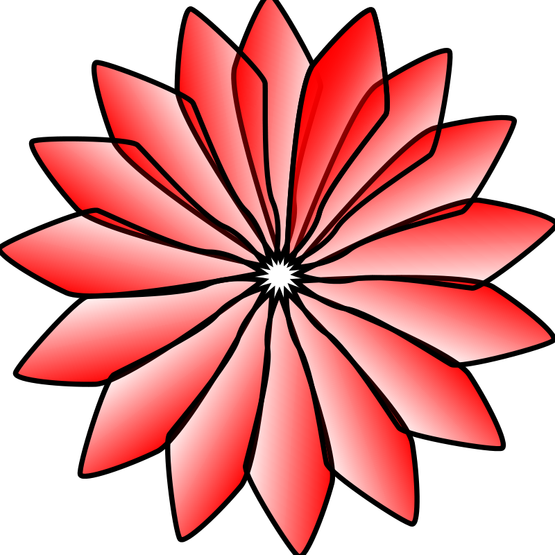 Daisy clipart svg. Red flower free on