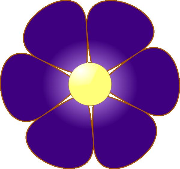 Violet clip art at. Flower clipart book