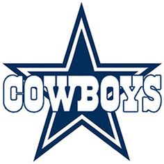 Dallas cowboys clipart. Nfl star with font