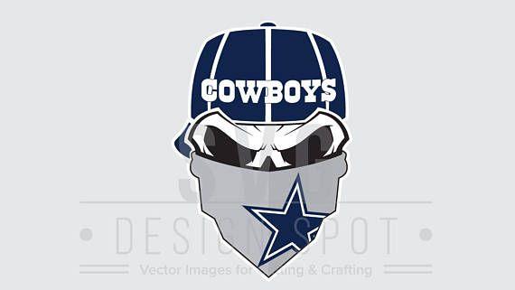 Dallas cowboys clipart bandanas. Skull svg file wall