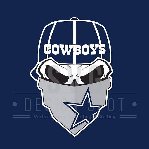 Skull svg file wall. Dallas cowboys clipart bandanas