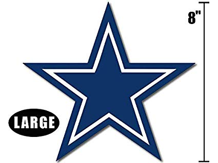 Dallas cowboys clipart book. American vinyl large inch