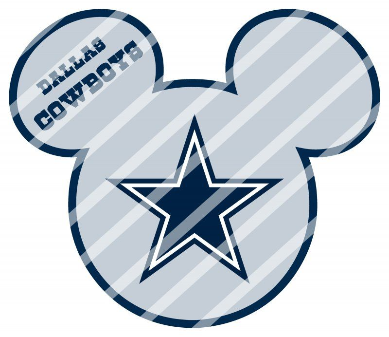 Dallas cowboys clipart cute. Mickey head digital clip