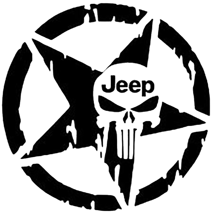 Patriots clipart decal. Jeep punisher star products