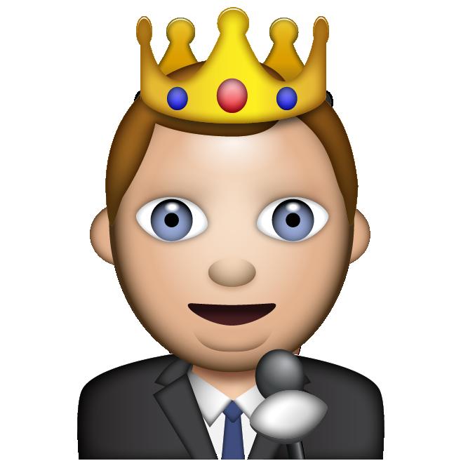 Emoji clipart king.  fantasy football stars
