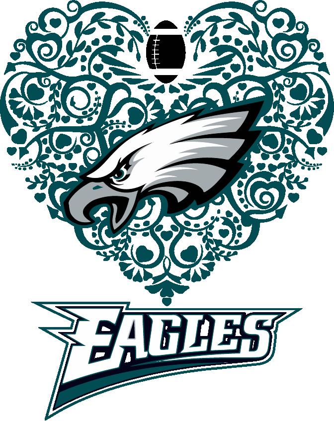 Dallas cowboys clipart heart. Eagles football svg dxf