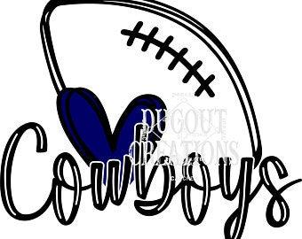 Dallas cowboys clipart heart. Etsy