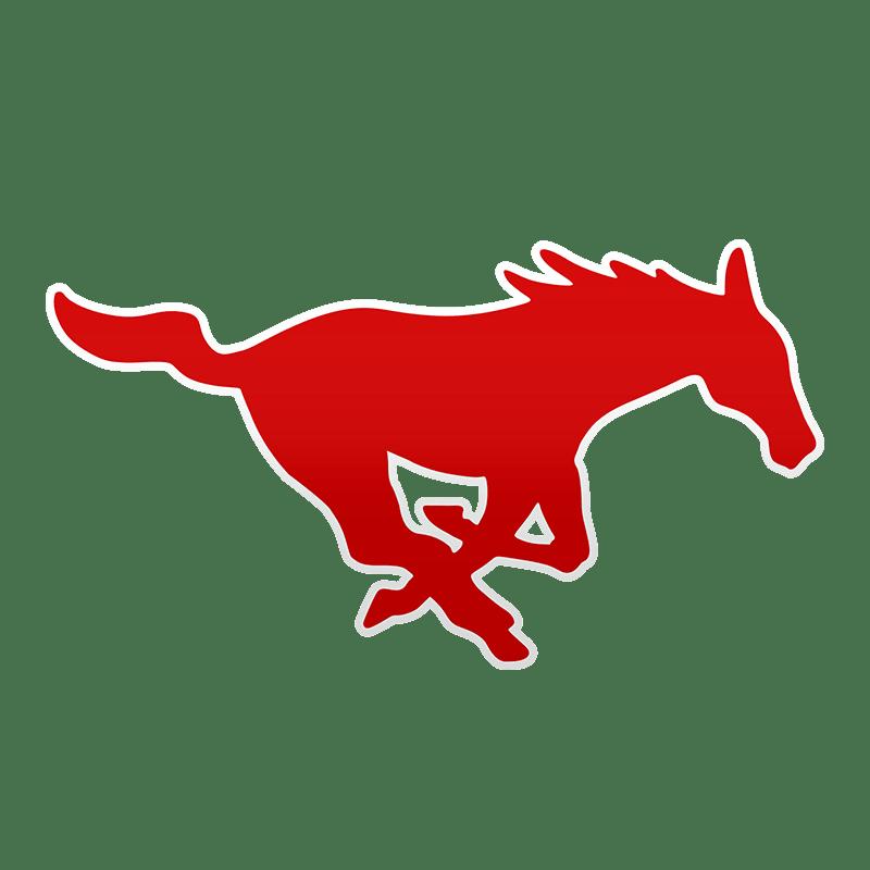 Mustang clipart central middle school. Smu beats ecu d