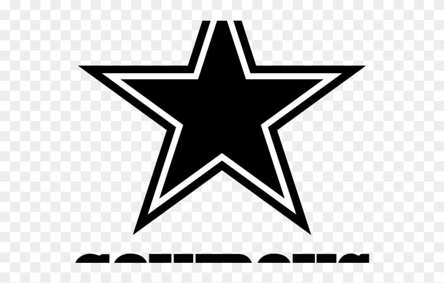 Drawn stare logo small. Dallas cowboys clipart line drawing