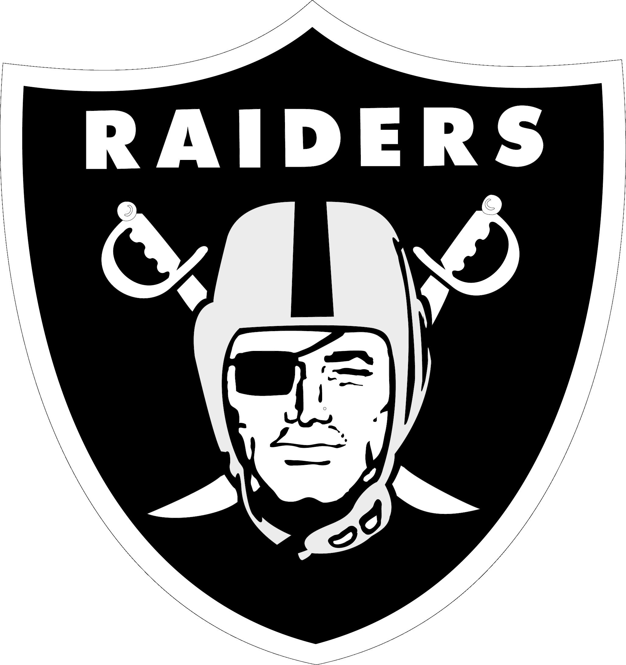 Lights clipart football. Oakland raiders logo vector