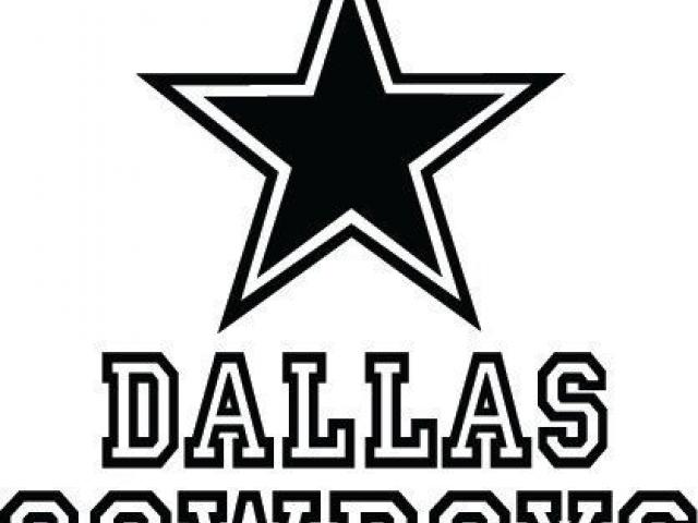 Huge collection of download. Dallas cowboys clipart outline