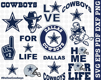 Dallas cowboys clipart pdf. Svg cut files etsy