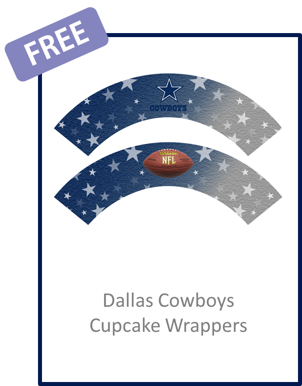 Cupcake wrappers free download. Dallas cowboys clipart pdf