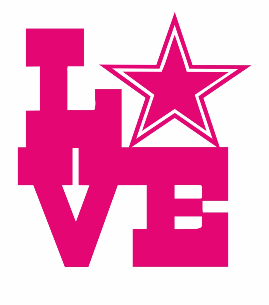 Dallas cowboys clipart pink. Star logo