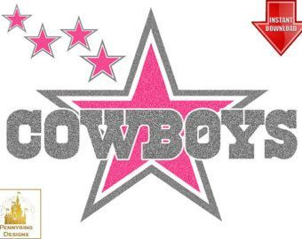 Star logo . Dallas cowboys clipart pink