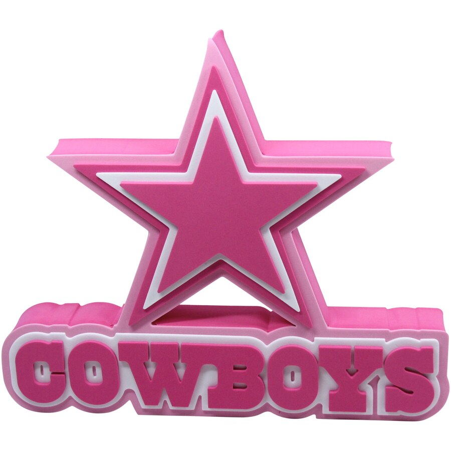 D foam logo sign. Dallas cowboys clipart pink