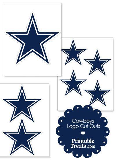 Dallas cowboys clipart printouts. Printable logo cut outs