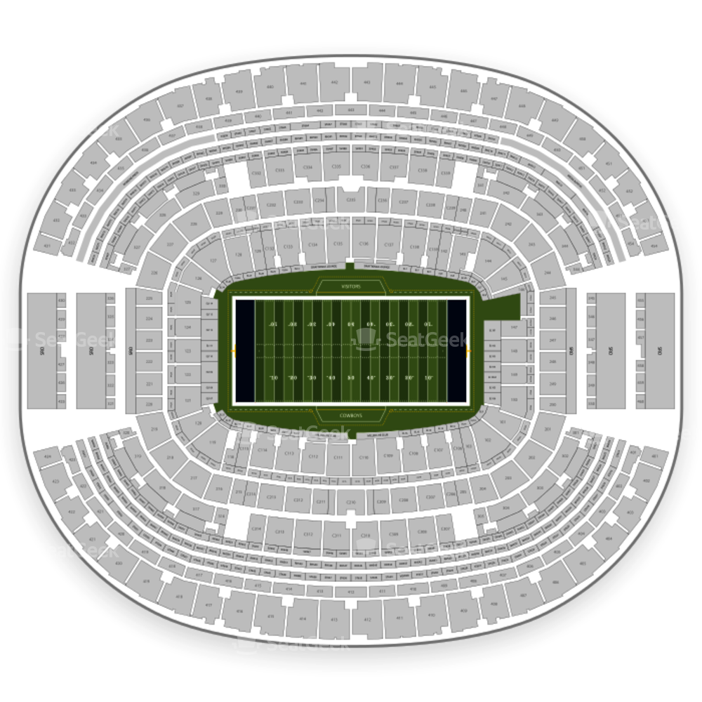 Seating chart map seatgeek. Dallas cowboys clipart rodeo