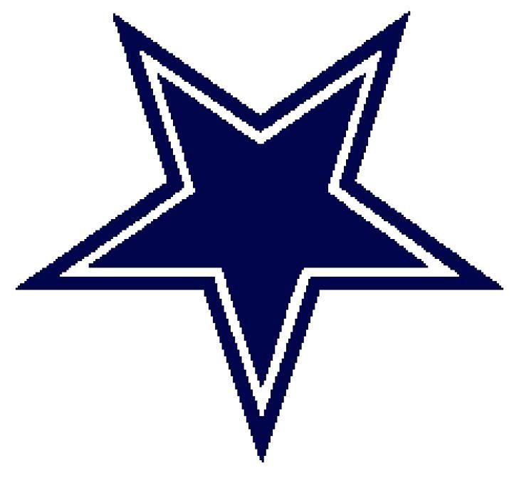 Dallas cowboys clipart sheet.  x star coloring