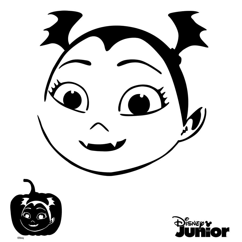 Pumpkin stencils vampirina cutout. Excited clipart ng tao
