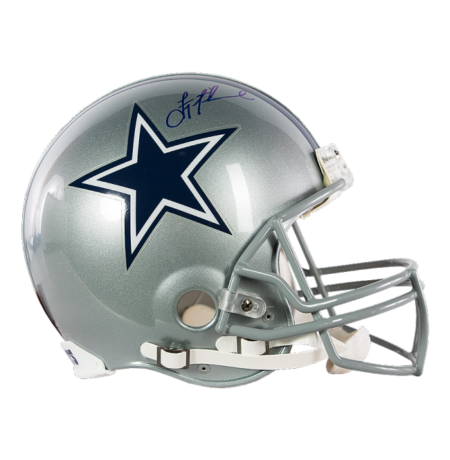 Dallas cowboys helmet png. Troy aikman signed full