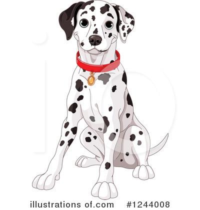 Illustration by pushkin royaltyfree. Dalmatian clipart