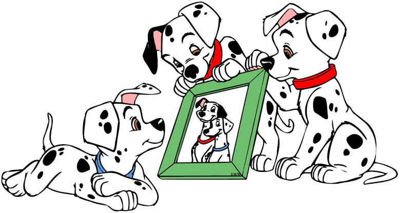 Firefighter clipart dalmatian. Puppies looking at picture