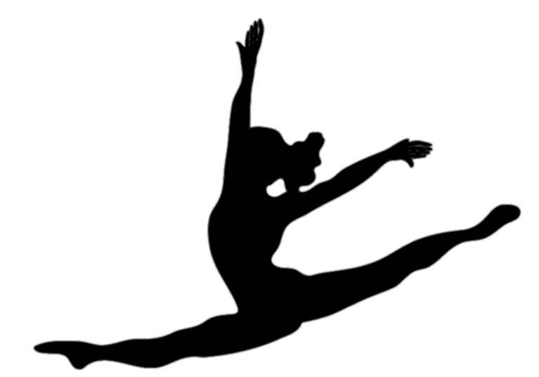 Dancer silhouette panda free. Dance clipart