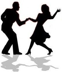 Dance clipart. Silhouette swing dancing couple