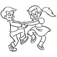 Inspirational of kids dancing. Dance clipart black and white