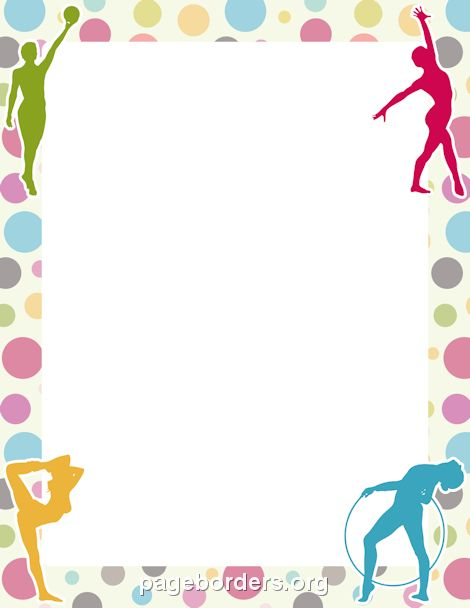 Free ballet border cliparts. Exercise clipart borders