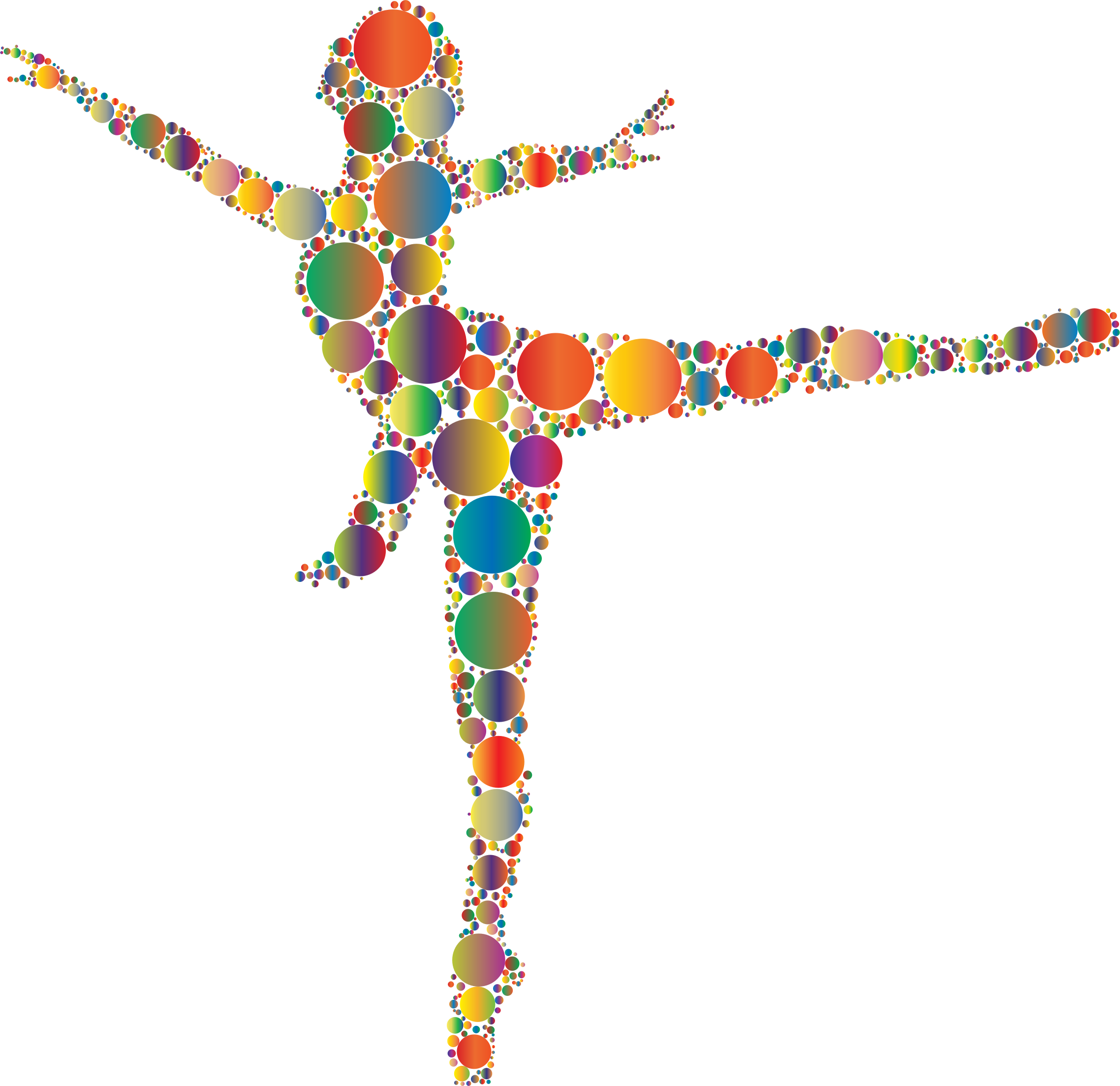 Dancer clipart abstract. Colorful ballet circles icons