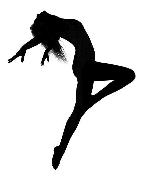Dancer clipart contemporary dance. Silhouette ink art