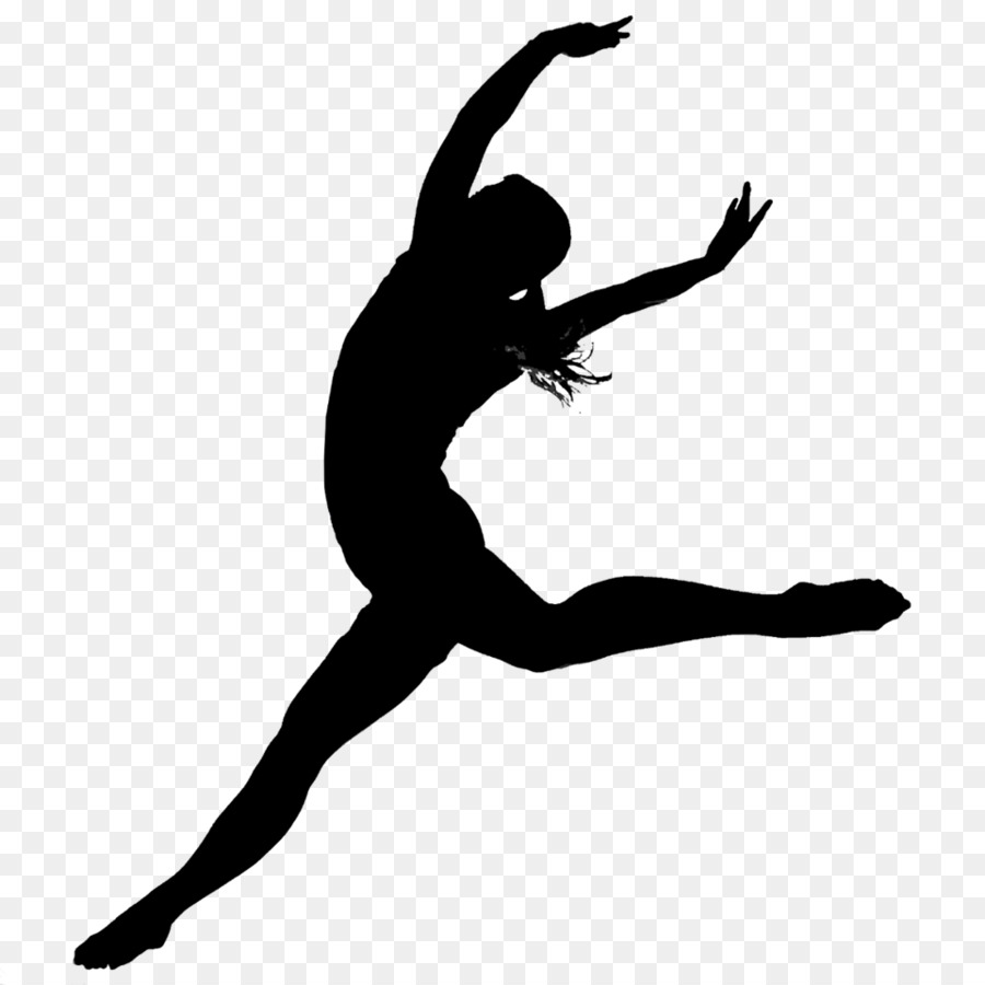 Modern background silhouette black. Dance clipart contemporary dance